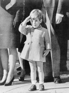 John John saluting his father JFK at the funeral. This picture is so touching and I'll never forget it! It touched the heart of our nation!