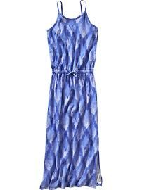 Girls Patterned Cami Maxi Dresses