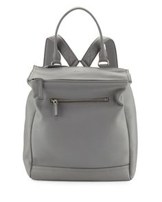 Pandora+Calfskin+Leather+Backpack,+Pearl+Gray+by+Givenchy+at+Neiman+Marcus.