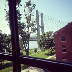 The view from the new River Campus Center