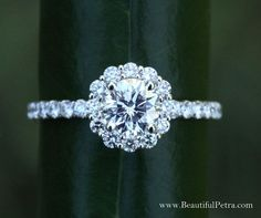 Diamond Engagement Ring 14K white gold 1.60 by BeautifulPetra