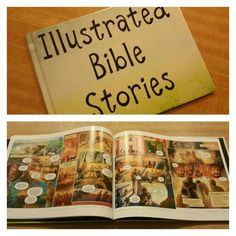 I made this through collage.com using the Illustrated Bible Stories from jw.org! Just convert the pdf's to jpeg and add to an 8x11 hardcover photo book! Perfect for Family Worship Evening or anytime really!
