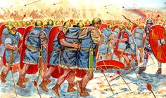 Missile cavalry against roman infantry - Carrhae Ancient Rome, Ancient History, Sassanid, Roman Legion, Roman Republic, Medieval World, Roman Soldiers, Roman History, Alexander The Great