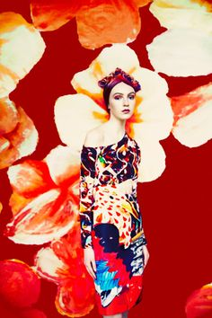 """Erik Madigan Heck and Mary Katrantzou started a collaboration on surreal photography series based on Mary's collections. First came the """"Surreal Planes"""", then the """"Florals"""""""