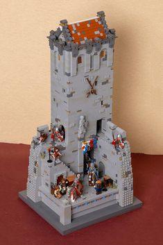 The Castle Entrance Lego 4, Lego Minecraft, Lego Village, Lego Iron Man, Lego Toy Story, Lego Knights, Lego Girls, Lego Display, Lego Christmas