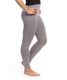 Take a look at this Gray Fleece-Lined Leggings on zulily today!