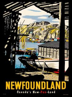 Newfoundland-Canada-039-s-New-fun-land-Canada-Canadian-Travel-Advertisement-Poster