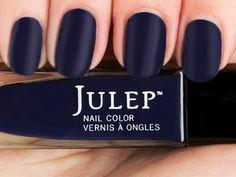 Julep-Lola, a moonlit blue satin