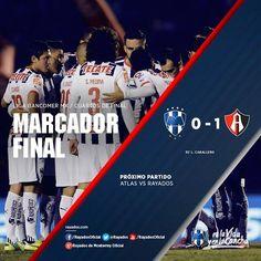 Finaliza el partido de IDA en Cuartos de Final Apertura 2014. Club de Futbol Monterrey 0-1 Atlas FC  La asistencia del día de hoy en el Tecnológico de Monterrey fue de 25,827 personas.