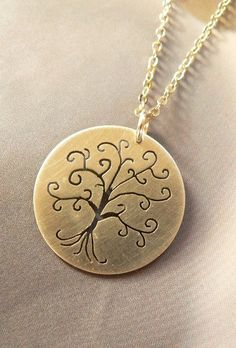 Curly tree necklace silver handmade metalwork