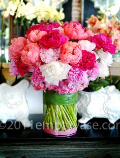 {Pretty} Peonies!  A must have for my office- very fresh and inspiring!