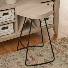 Check out Crosley Backless Counter Stool from Shades of Light