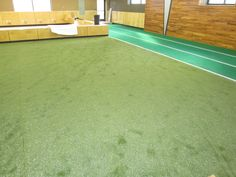 Here is Edge Fitness Hamden turf area after we finished.  Great for functional training, sports specific, pushing prowler around OR stretching those weary muscles!