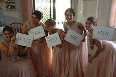 Great idea for wedding photoshoot, if you have few bridesmaids you can also include groomsmen. Wedding photo ideas, diy