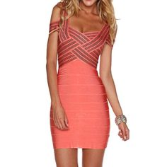 Sexy Sweetheart Neckline Bodycon Hollow Out Bandage Dress For Women, AS THE PICTURE, S in Bandage Dresses | DressLily.com