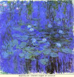 Claude Monet. Blue Water Lilies. Olga's Gallery.