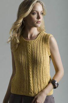 Corn Silk Shell in SOFT COTTON free knit pattern