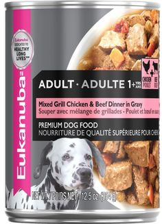 Eukanuba Adult Mixed Grill Beef & Chicken Dinner in Gravy Canned Dog Food - 12.5-oz, case of 12