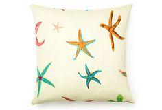 Starfish Outdoor Pillow