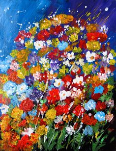 acrylic paintings | Flowers - Painting | Painting | Acrylic