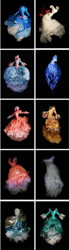 Haunting photos of stunning period dresses as ghostly figures by Meg Cowell