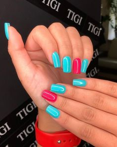 Cute Nail Designs For Spring – Your Beautiful Nails Summer Acrylic Nails, Best Acrylic Nails, Summer Nails, Dream Nails, Love Nails, Fun Nails, Edgy Nails, Stylish Nails, Dipped Nails