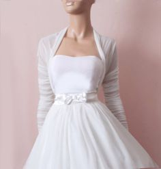 ~ lovely cover up for your wedding day ~  Provides extra coverage on a strapless gown for the ceremony. Would also look great with a tank and