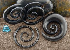 Ebony wood super spirals - Very nice looking and light spirals. Staple pieces.