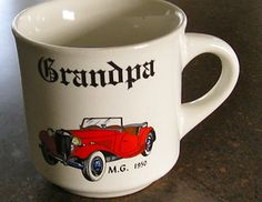 M.G. 1950 Auto Mug Cup Father Grandpa Customcard Papel Japan Father's Day Car  $6.50