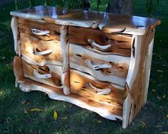 """Rustic Wood Dresser from """"Funny Furniture"""""""