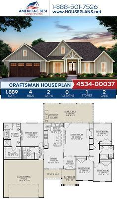 House Plans One Story, Family House Plans, Ranch House Plans, New House Plans, Dream House Plans, Modern House Plans, Small House Plans, Ranch Floor Plans, Rambler House Plans