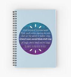 Percy Jackson Prophecy Purple and Blue Cuaderno de espiral