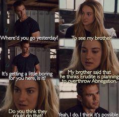 Divergent scene.