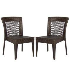Outdoor Wicker Chairs Patio Dining Backyard Stackable  Garden Furniture Seat (Set of 2) Walmart