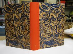 A new Mark Hearld linocut on a hand bound scrapbook made for Mark by Christopher Shaw, Bookbinder. The linocut will soon be a fabric for St Jude's.