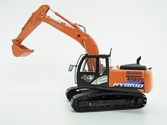 Hitachi Zaxis ZH200-5 Hybrid Excavator 1/50 Diecast Model From Japan 57 #Hitachi #Hitachi