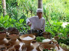 enjoy the food in Con Dao resort