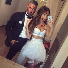 Zombie Bride and Groom for Halloween