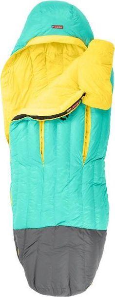 NEMO Women's Rave 30 Sleeping Bag Sea Glass/Lemon Regular Right
