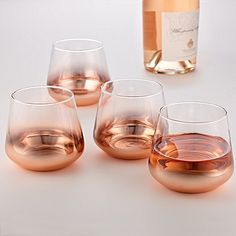 Buy the Rose Gold Metallic Tumblers (Set of 4 at Wine Enthusiast – we are your ultimate destination for wine storage, wine accessories, gifts and more! Drink Pink, Home Interior Accessories, Rose Gold Kitchen Accessories, Decorative Accessories, Pet Accessories, Rose Gold Decor, Wine Storage, Instruments, Sweet Home