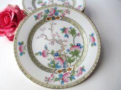 Vintage Noritake Inwood Indian Tree Salad Plates by thechinagirl