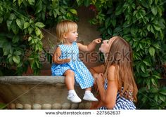 Family, mother and daughter look at each other and smile Family Stock Photo, Family Photos, Daughter, Smile, Stock Photos, Family Pictures, Family Photo, Family Photography, My Daughter