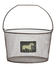 Take a look at the 'Dogs Rock' Wire Basket on #zulily today!