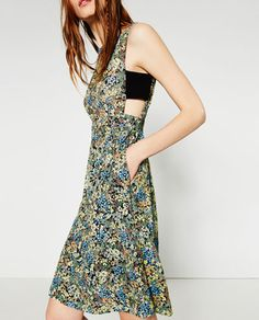 PRINTED GUIPURE LACE DRESS-View All-DRESSES-WOMAN | ZARA United States