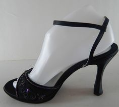 Chinese Laundry Womens Patent Closed Toe Classic Pumps Black Suede Size 6.5 8e