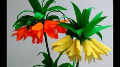 Paper Flowers Fritillaria Imperialis / Crown Imperial flower # 89                                                                                                                                                                                 More