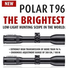 The new Polar T96- just one of the fine ranges of hunting scopes available from Schmidt & Bender. Schmidt & Bender will be in Gunmakers Hall 2 at The Great British Shooting Show. For more information please visit http://ift.tt/1wZPHOH #Schmidt #Bender #Hunting #Worldwide #Shooting #Precision #Accuracy #Scopes #Optics #BritishShootingShow #Thingstodo #Buytickets