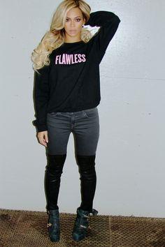 Beyonce - Flawless sweatshirt found on Beyonce shop website