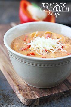 Tomato Tortellini Soup- Creme de la Crumb