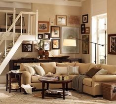 40 Cozy Living Room Decorating Ideas - Interior Design Ideas, Home Designs, Bedroom, Living Room Designs.like lsmp, warm lighting. Like cozy picture arranging.just needs comfy ottoman instead of hard coffee table Cozy Living Rooms, My Living Room, Home And Living, Barn Living, Earth Tone Living Room Decor, Small Living, Modern Living, Living Area, Living Spaces